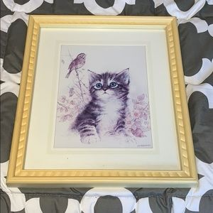 Vintage Giordano Framed Picture 1989 Cat